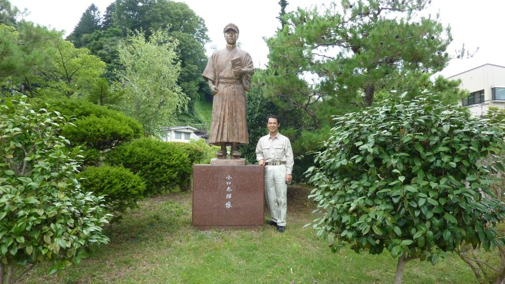 28,8,23委員会調査釜口水門:小口太郎像